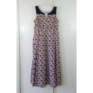 ESHAKTI maxi dress floral sleeveless casual cotton